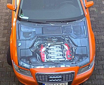 Audi A8 Bildfolie