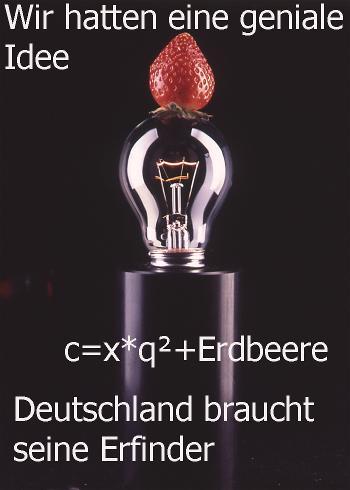 Erdbeerlampe