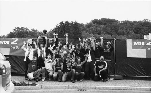 Jugendliche sagen Danke an die Stadt Hückeswagen.